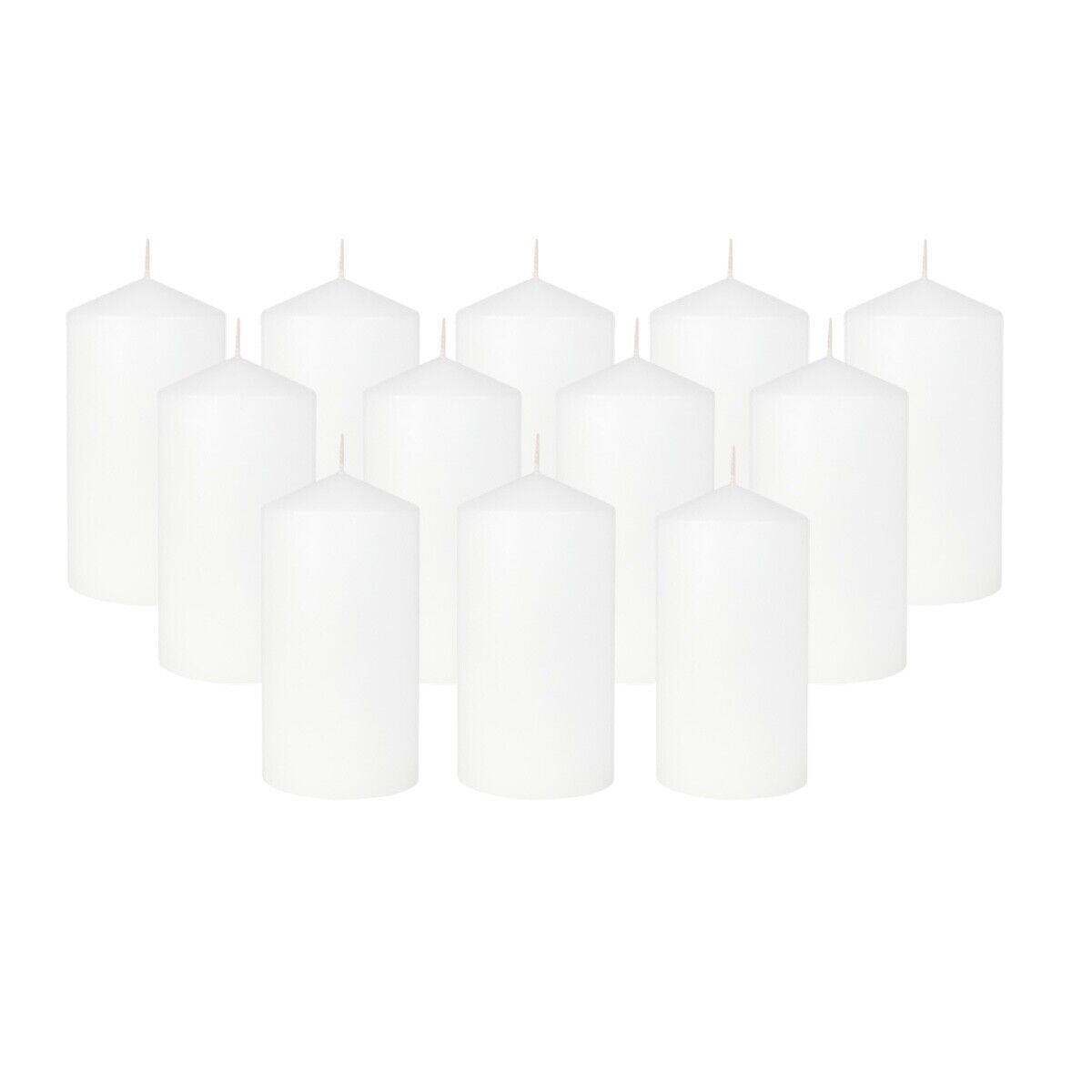 "12-Pack Pillar Candles 3""x6"" for Weddings Home Christmas Spa"
