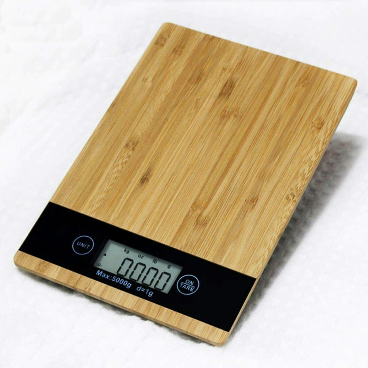 Digital Food Kitchen Scale| Bamboo Panel Electronic LCD Scre