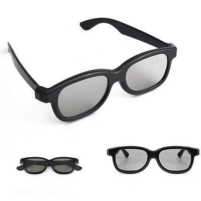 1 Pairs Black Passive 3D Glasses Family Home For Panasonic Sony Samsung LG TV