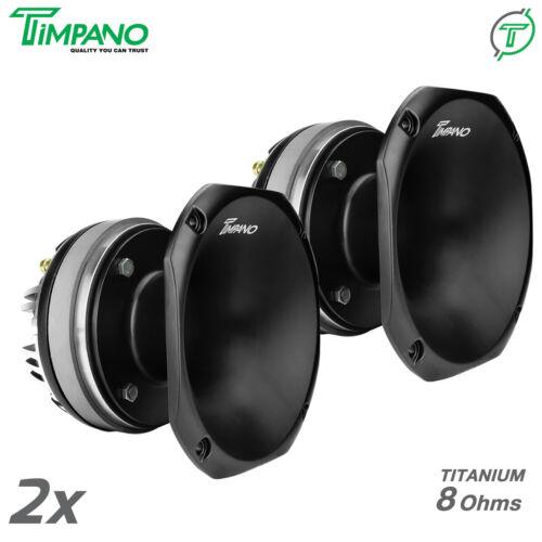"2x Timpano TPT-DH2000 2"" Compression Horn Driver - Titanium 8 ohms PRO 400 Watts"