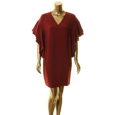 LAUREN RALPH LAUREN NEW Women's Flutter-sleeve V Neck Shift Dress TEDO