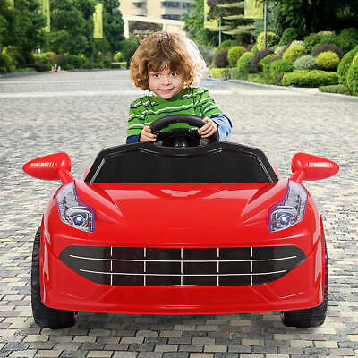 Electric Kids Ride On Car 6V Battery Power Gift Toy LED MP3 W/ Remote Control