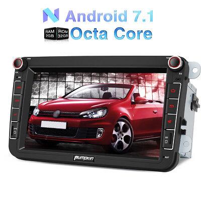 """8"""" Autoradio Android 7.1 GPS Navi SAT 1024*600 BT DAB FÜR VW Golf 5 6 Passat EOS"""
