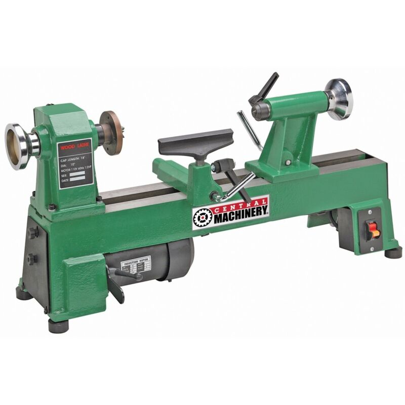 "5 SPEED BENCH TOP WOOD LATHE 10"" x 18"" HEAVY DUTY CAST IRON - UP to 3200 RPM"