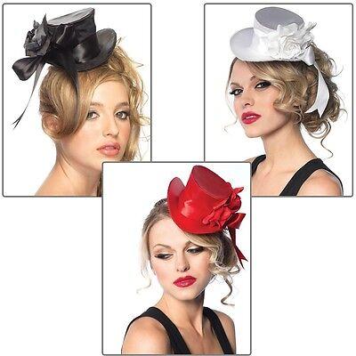 Mini Top Hat Womens Gothic Costume Halloween Fancy - Women's Top Hat
