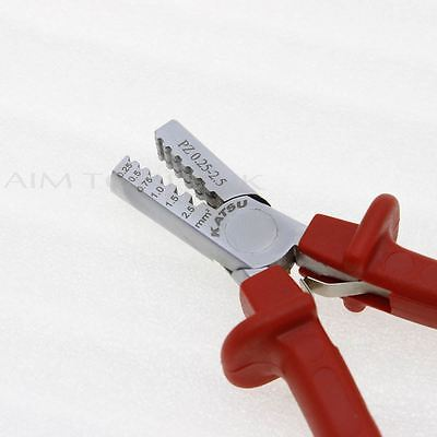 416409 Mini Cable End-Sleeves Ferrules Crimping Tool Crimper Plier 0.25-2.5mm²