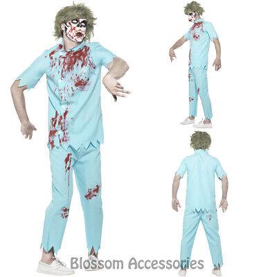 Costume Halloween 95 (CA95 Mens Bloody Zombie Dentist Doctor Horror Costume Halloween Fancy Dress)