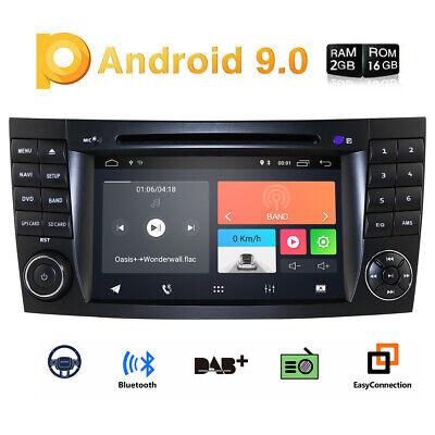 AUTORADIO MIT ANDROID 9.0 2+16GB PASSEND FÜR MERCEDES W211 W219 W463 NAVI WLAN E