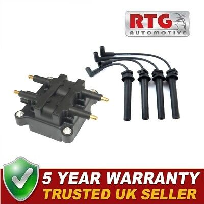 Ignition Coil Pack + Spark Plug Leads for Mini 1.6 Cooper R50 R52 S Works R53