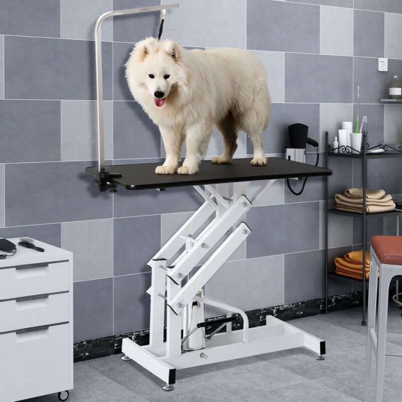 Z-Lift Pet Grooming Table Hydraulic Dog Pet Table Adjustable Heavy W/Arm&Noose