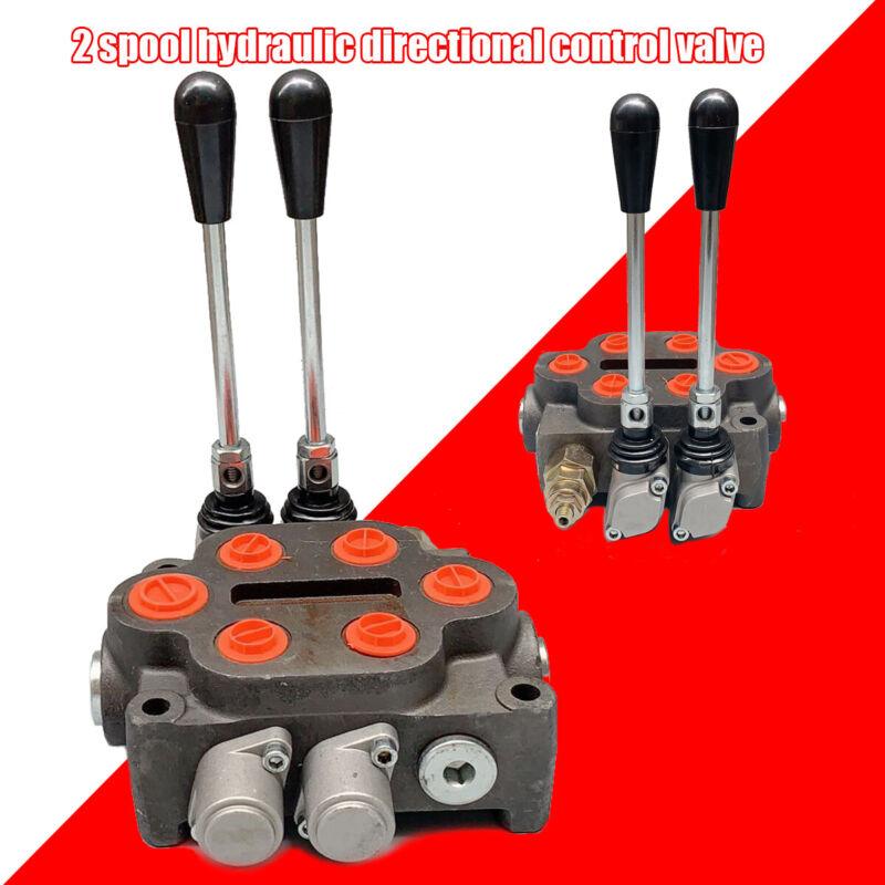 "Hydraulic Control Valve 2 Spool Ractors Loaders Log Splitter3/4"" NPT In/Out Port"