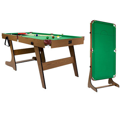 Premium 6ft Pub Style Folding Snooker and English Pool Games Table Billiard