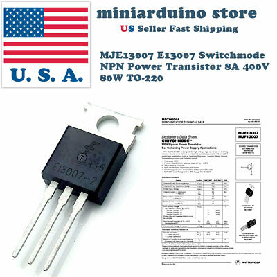 10pcs Mje13007 E13007-1 J13007 13007 Switchmode Npn Power Transistor 8a 400v Us