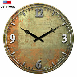 15 Large Wooden Wall Clock Room Home Silent Decor Retro ClockS Antique