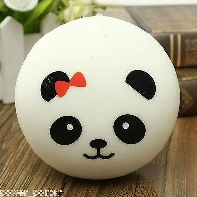 Random Jumbo Soft Panda Squishy Bread Semll Charms Cell Phone Strap Wrist Rest