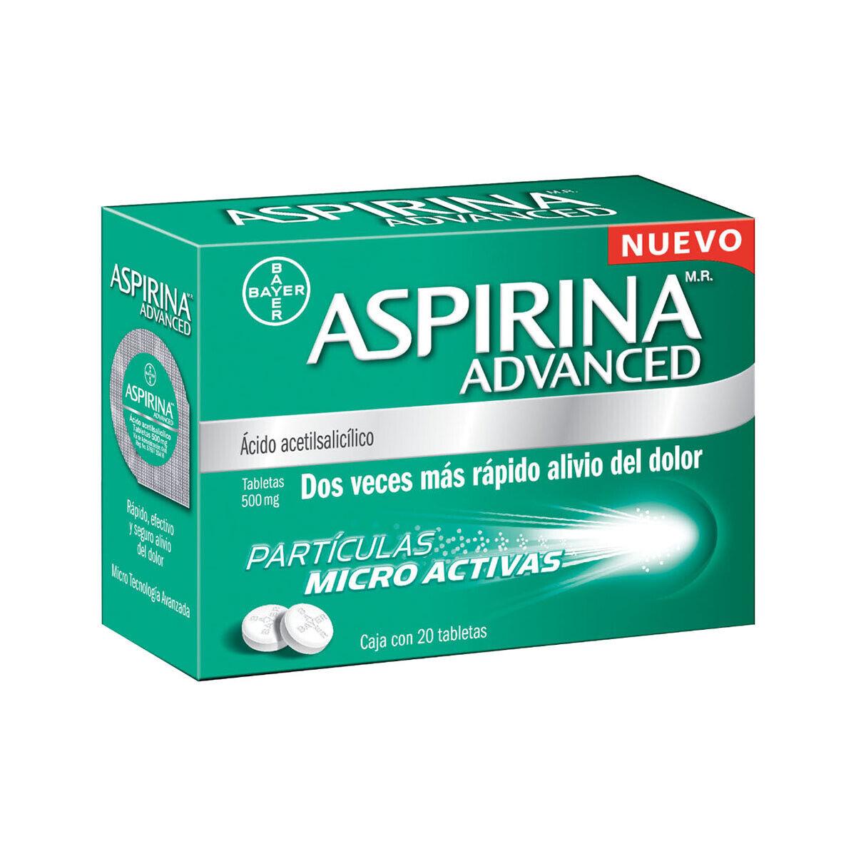 Aspirina / Aspirin Advanced 500 mg -20 tablets