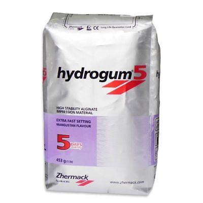2pk Zhermack Hydrogum 5 Extra Fast Alginate C302070 1 Lb. Bag 2 Lbs