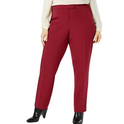 ANNE KLEIN NEW Women's Plus Size Bowie Tab-front Dress Pants -