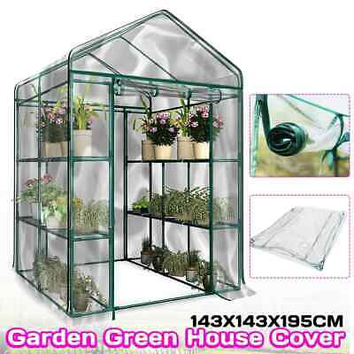 Used, Extra Large Walk In Greenhouse PVC Plastic Garden Grow Green House For  8 Shelve for sale  Manchester