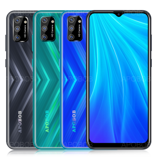Android Phone - 6.6 Inch Android 9.0 Unlocked Mobile Phone Quad Core Dual SIM 3G GPS Smartphone