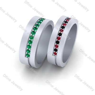 Super Villain Joker and Harley Quinn Inspired Matching Wedding Band Set - Super Villain Couples
