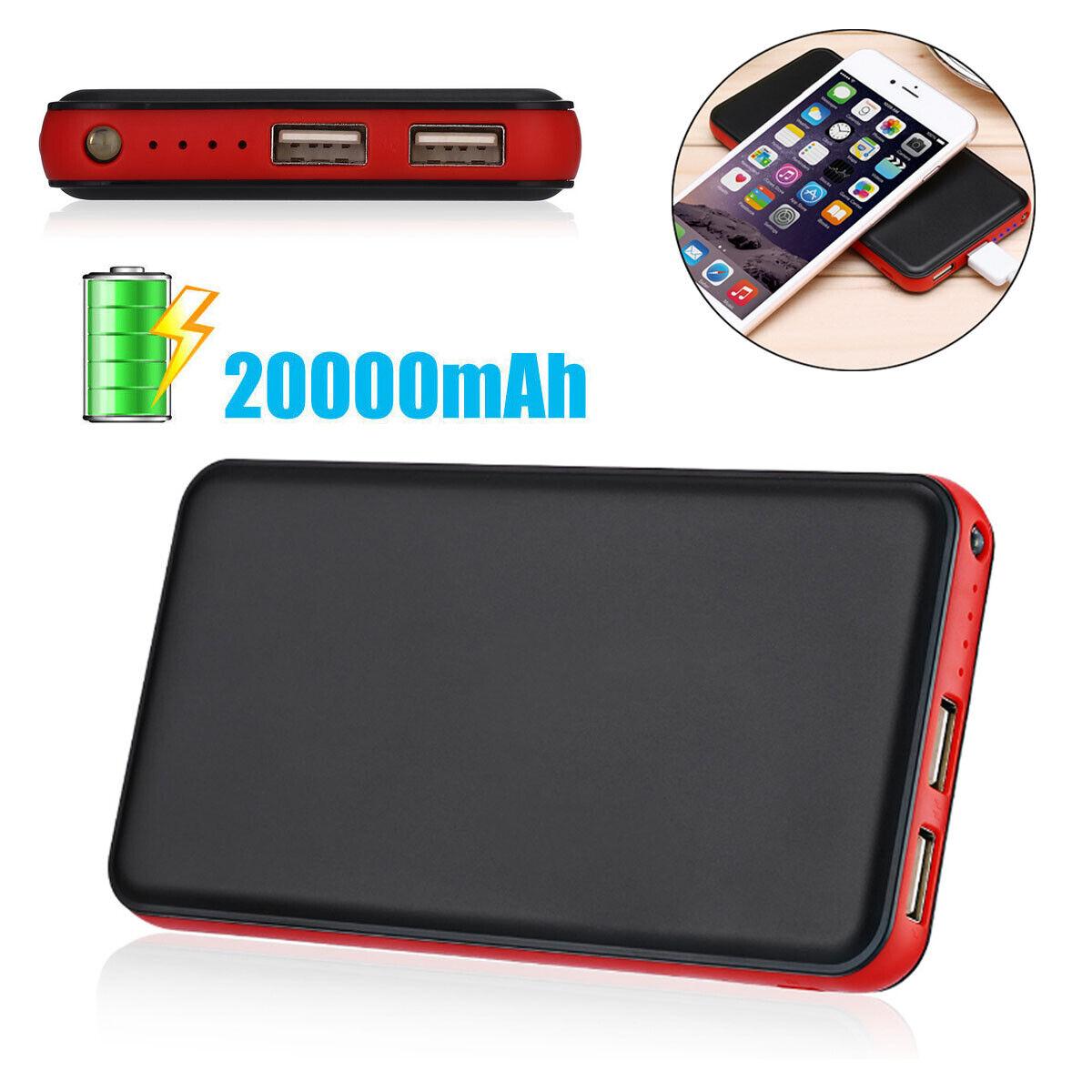 10000mAh Dual USB Port Power Bank External Battery Charger W