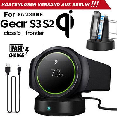 Qi Wireless Ladestation  Ladegerät für Samsung Gear S3 S2 Classic Frontier DE (Ladestationen Für Samsung)