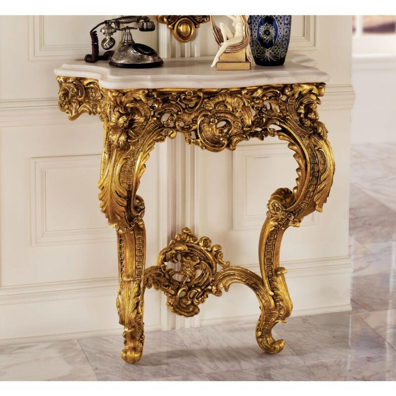17th Century French Rococo Antique Replica Salon Wall Table