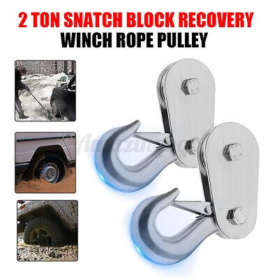 2 Ton Heavy Duty Winch Snatch Block Pulley Steel Off Road-recovery Tonne 4x4