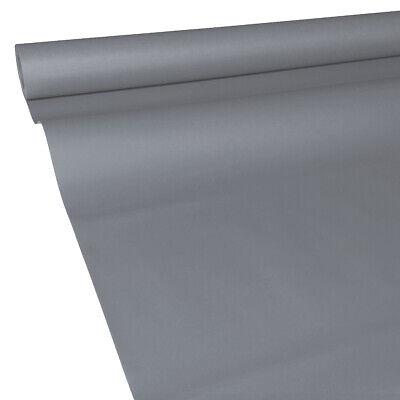 0,41€/m² 50m x 1,15m stahl-grau JUNOPAX Papiertischdecke Einweg Tischtuch Rolle