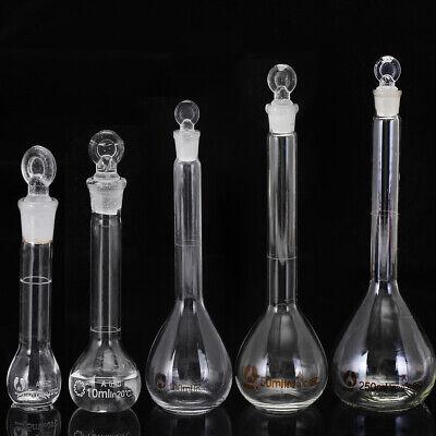 5-250ml Clear Glass Volumetric Flask Beakers Borosilicate Lab Glass Round Bottom