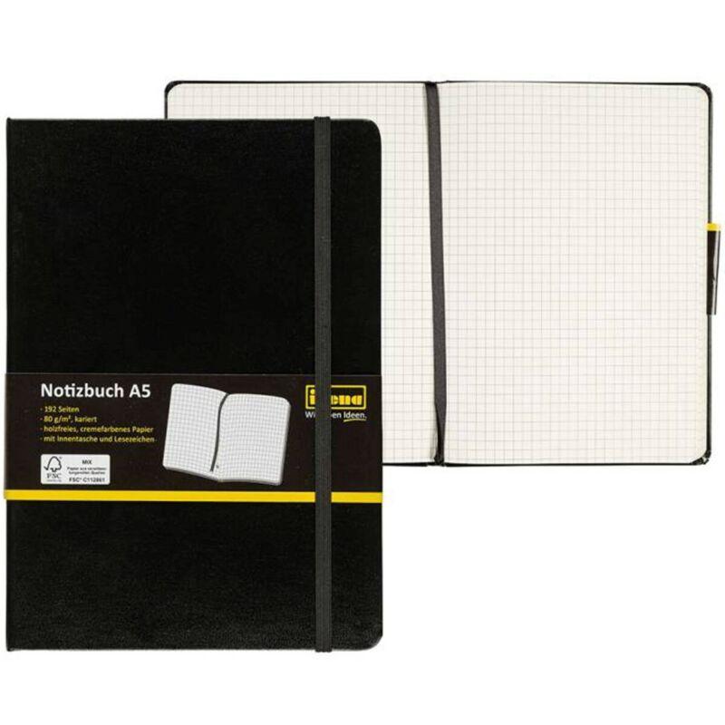 Idena Notizbuch A5  (liniert, kariert, blanko / 1er, 3er, 5er Pack) frei wählbar