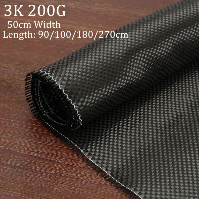 3K 200gsm Real Plain Weave Carbon Fiber Cloth Carbon Fabric Tape 20