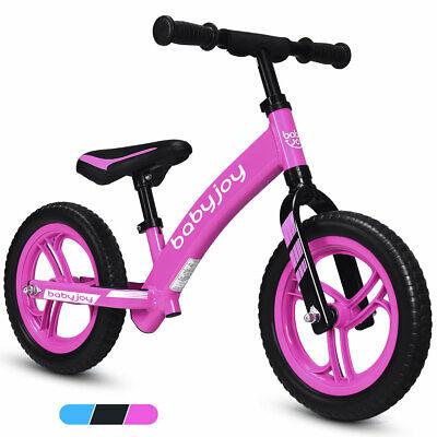 "12"" Balance Bike Kids No-Pedal Learn To Ride Pre Bike w/ Adjustable Seat Pink"