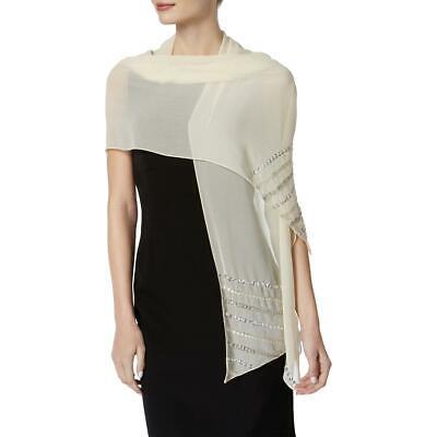 INC Womens Beige Sequined Sheer Shawl/Wrap O/S BHFO 5806