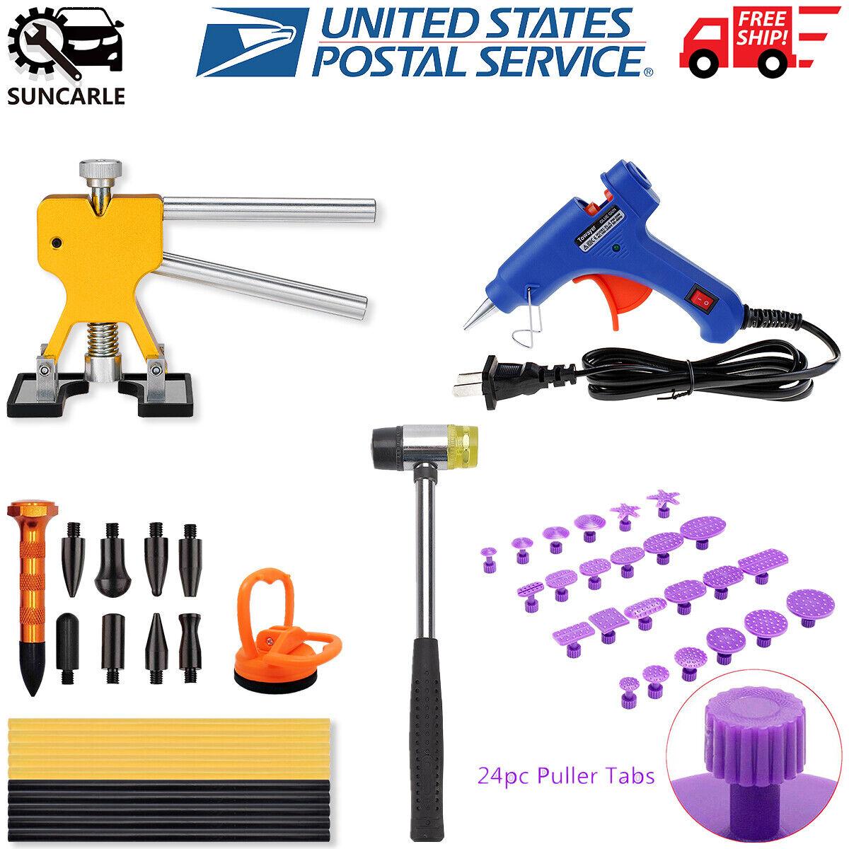 US Car Dent Puller Tools Paintless Hail Damage Dent Removal Repair Tools Kits