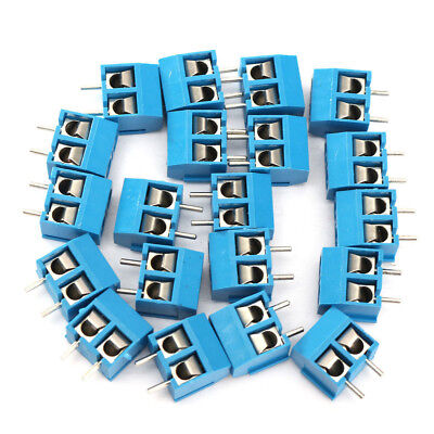 10 X 2-pin Screw Terminal Block Connector 5.08mm Pitch Panel Pcb Mount Blue