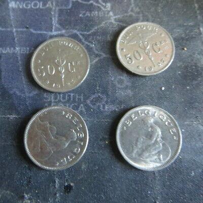 4 x bon pour 50 centimes  1923 à 1933 Albert I