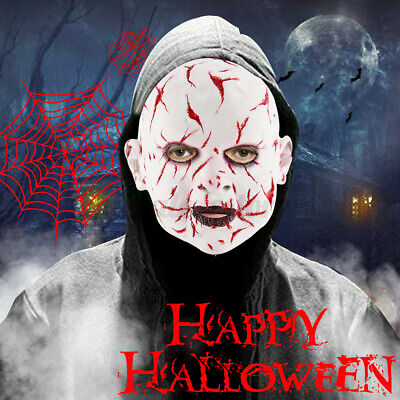 Scary Face Mask Latex Halloween Horror Costume Party Cosplay Prop Mask Creepy