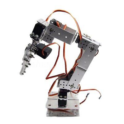 New For Arduino Rot2u 6dof Aluminium Robot Arm Clamp Claw Mount Kit Servos Horn