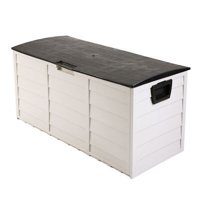 """44"""" Deck Storage Box Outdoor Patio Garage Shed Tool Bench Container 79 Gallon"""