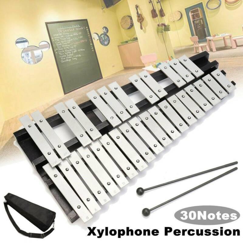 30 Hinweis Glockenspiel Xylophon Schlaginstrument Musik Faltbar mit Schlägel NEU