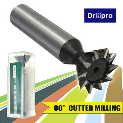 1pc 20mm 34 X 60 Degree Hss Dovetail Cutter Milling High Speed Steel Tool