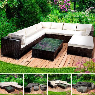 Gartenmöbel Polyrattan Lounge Sitzgarnitur Gartengarnitur Sitzgruppe Gartenset