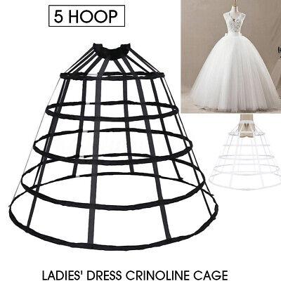 Petticoat Unterrock Hoop Kleid Unterkleid Reifrock Ringe Brautkleid Krinoline DE
