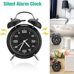 Vintage Extra Loud Alarm Clock Twin Bell Battery Analogy Backlight Desk Bedroom