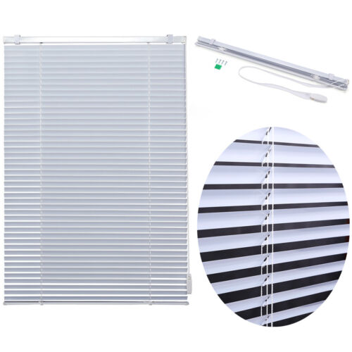 "Window Blinds 1"" Slat Venetian Horizontal Privacy White Curt"