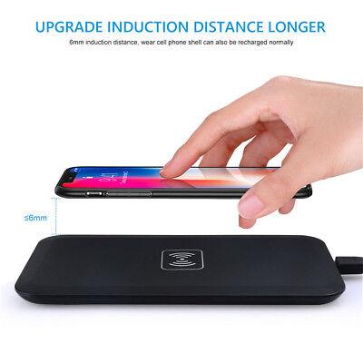 Induktive Ladestation Wireless Kabellos Ladegerät Qi Charger Samsung iPhone X/8 (Ladestationen Für Samsung)