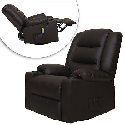 New Recliner Full Body Shiatsu Massage Chair w/Back Roller & Heat Stretched Foot