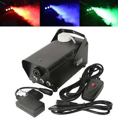 400W RGB LED Fog Machine Remote Control Lighting Stage Fogger Smoke Thrower